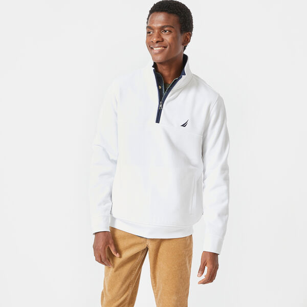 CLASSIC FIT QUARTER-ZIP FLEECE PULLOVER - Bright White