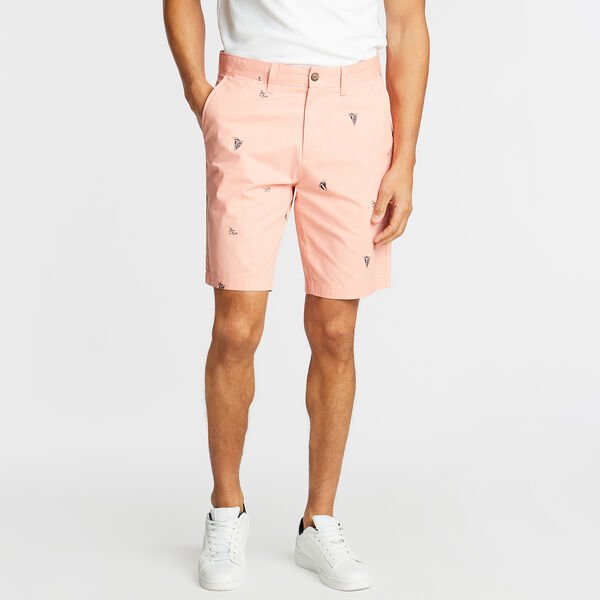 "9.5"" SLIM FIT SAILBOAT PRINT SHORTS - Pink Clay"