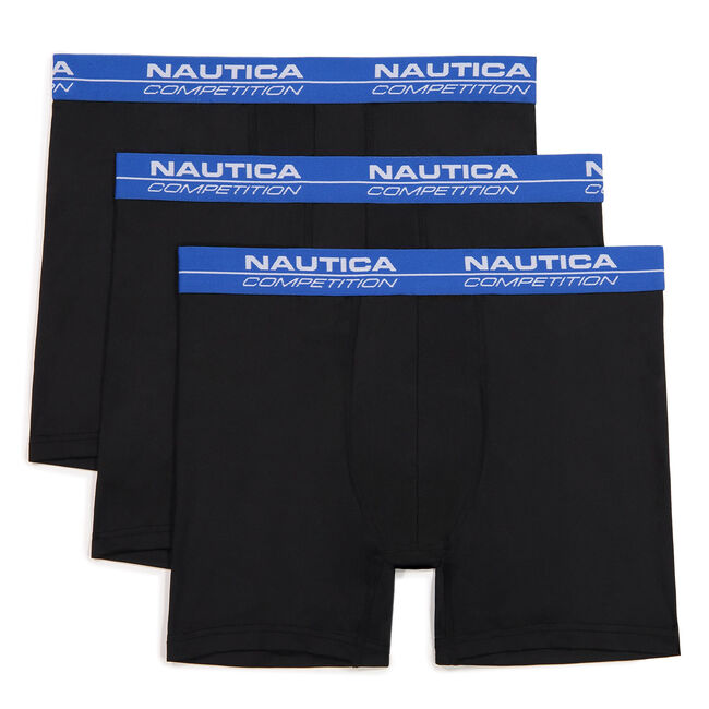 COMPETITION PERFORMANCE BOXER BRIEF, 3-PACK,Black,large