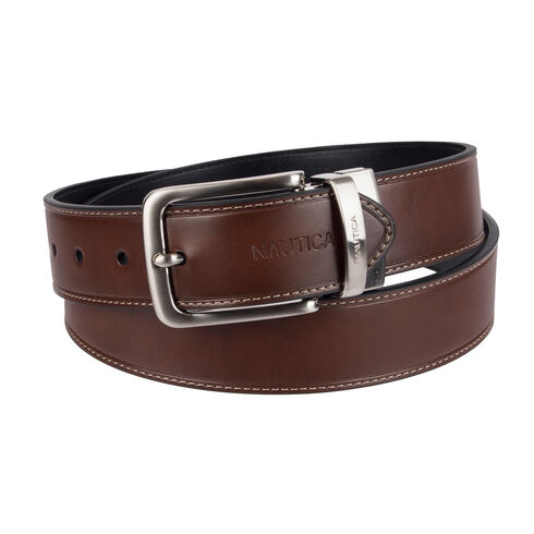 Double Top Overlay Belt - Brown Stone