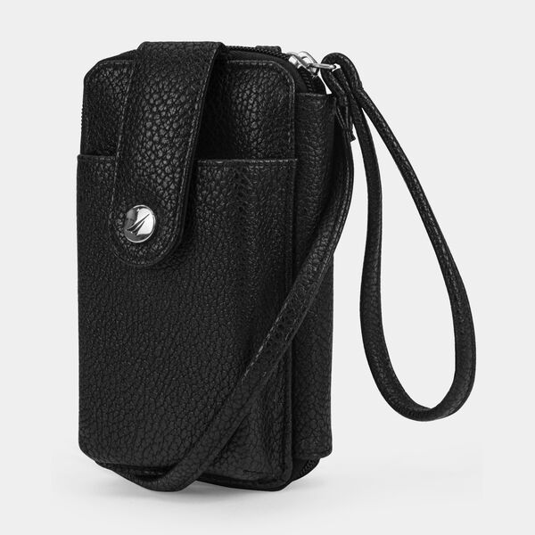 CAROLINE PHONE CASE WITH STRAP - True Black