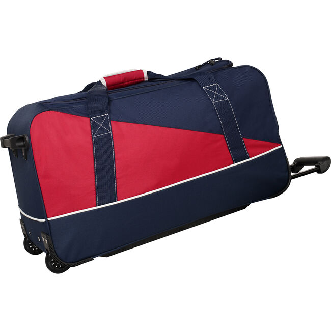 "Newton Creek 22"" Wheeled Duffel Bag in Navy/Red,Navy,large"