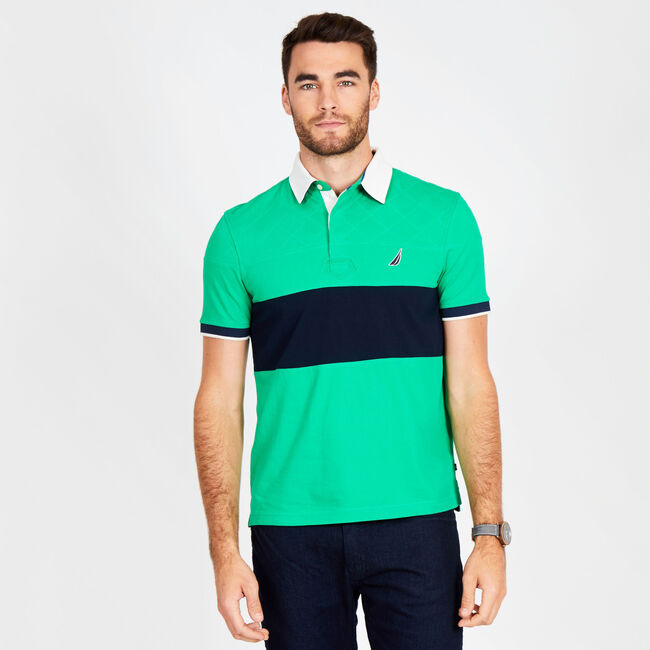 Big & Tall Short Sleeve Classic Fit Quilted Polo,Bright Green,large
