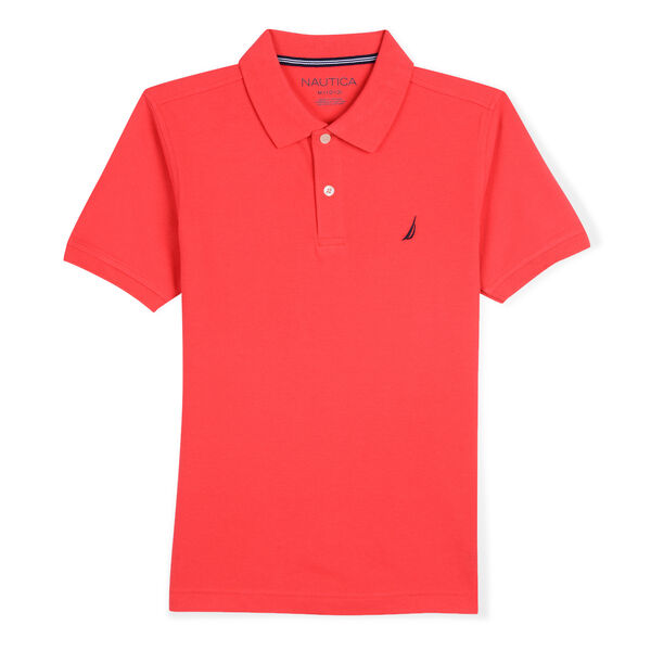 TODDLER BOYS' STRETCH DECK POLO (2T-4T) - Camellia Rose