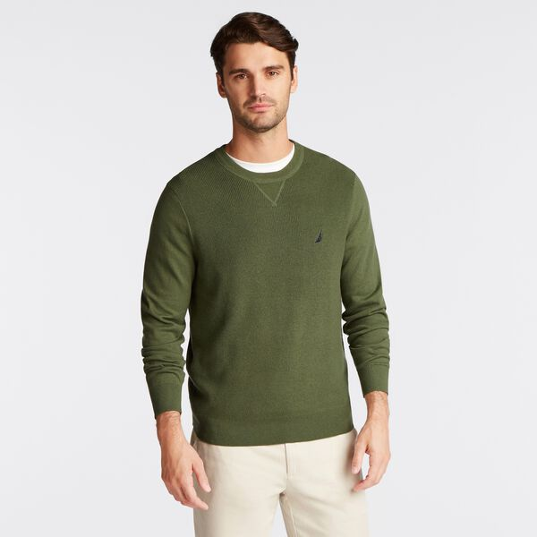 NAVTECH RIBBED FRONT SWEATER - Pineforest