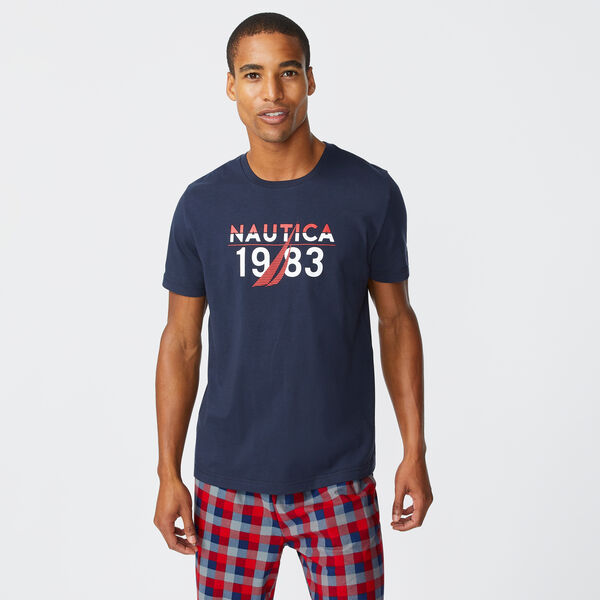 1983 LOGO GRAPHIC SLEEP T-SHIRT - Navy