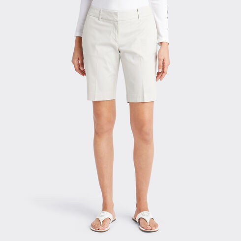 "Classic Fit Bermuda Shorts - 10"" Inseam - Moon Rock"