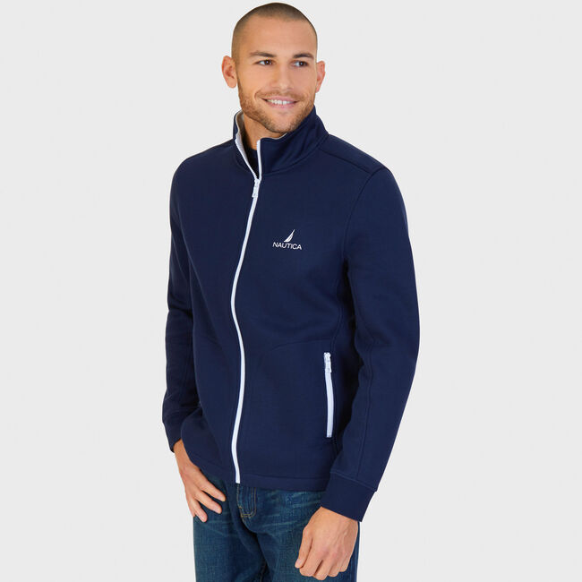 J-Class Full-Zip Track Jacket,Navy,large