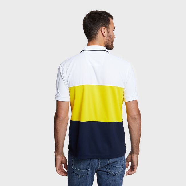 Big & Tall Navtech Colorblock Polo,Bright White,large