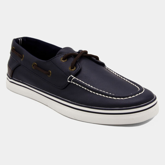 Galley 2 Boat Shoe in Navy/Brown,Navy,large