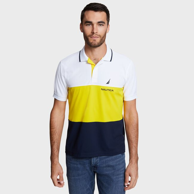 cb89bf1805 Big & Tall Navtech Colorblock Polo,Bright White,large