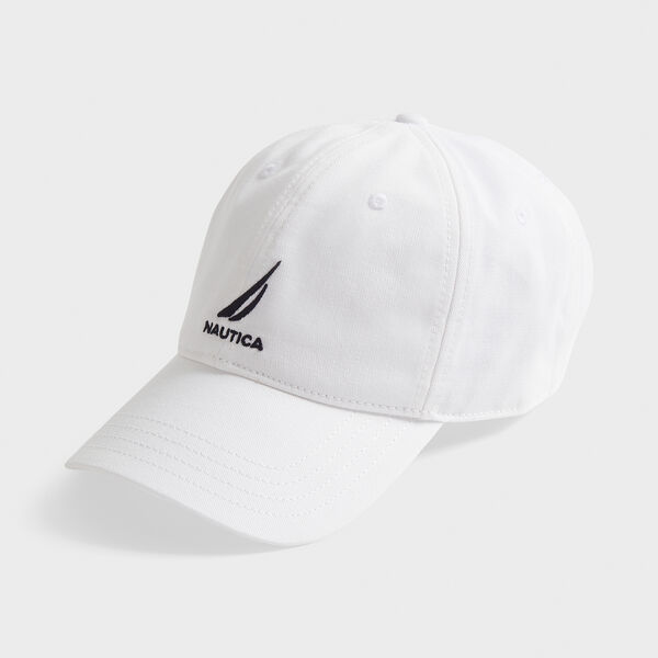 J-CLASS EMBROIDERED CAP - Antique White Wash