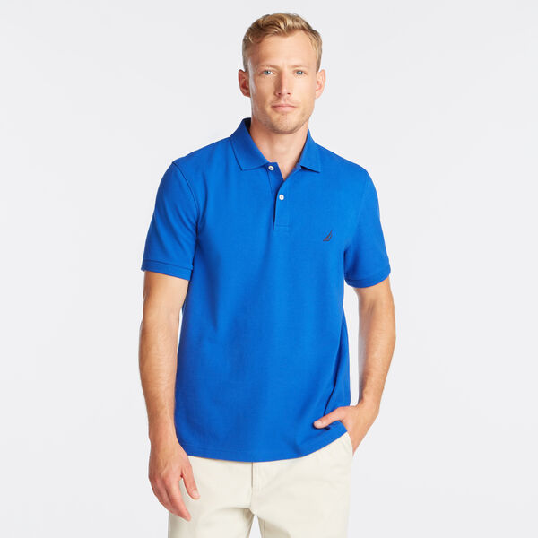Classic Fit Mesh Polo - Bright Cobalt