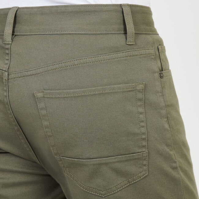 Straight Leg 5-Pocket Pant,Hillside Olive,large