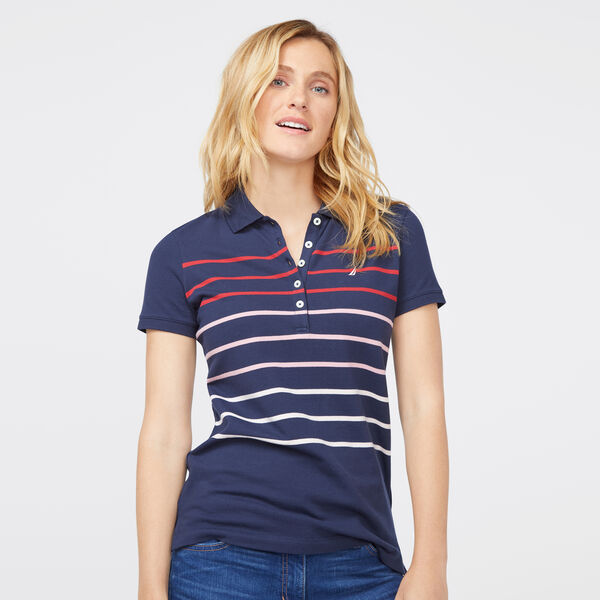OMBRE STRIPE CLASSIC POLO SHIRT - Stellar Blue Heather