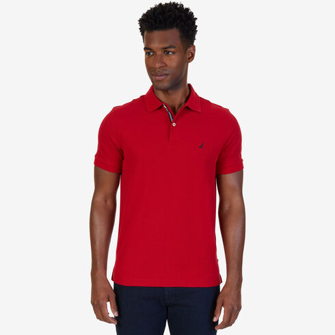 Short Sleeve Slim Fit Performance Deck Polo - Nautica Red