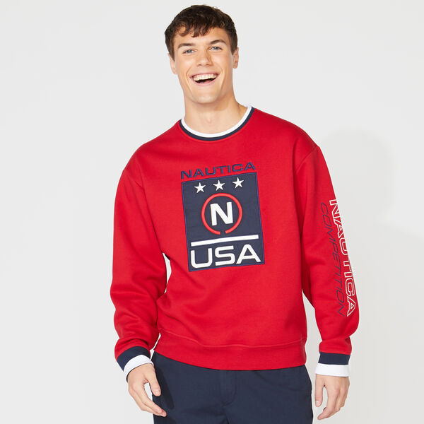 COMPETITION LOGO GRAPHIC SWEATSHIRT - Nautica Red