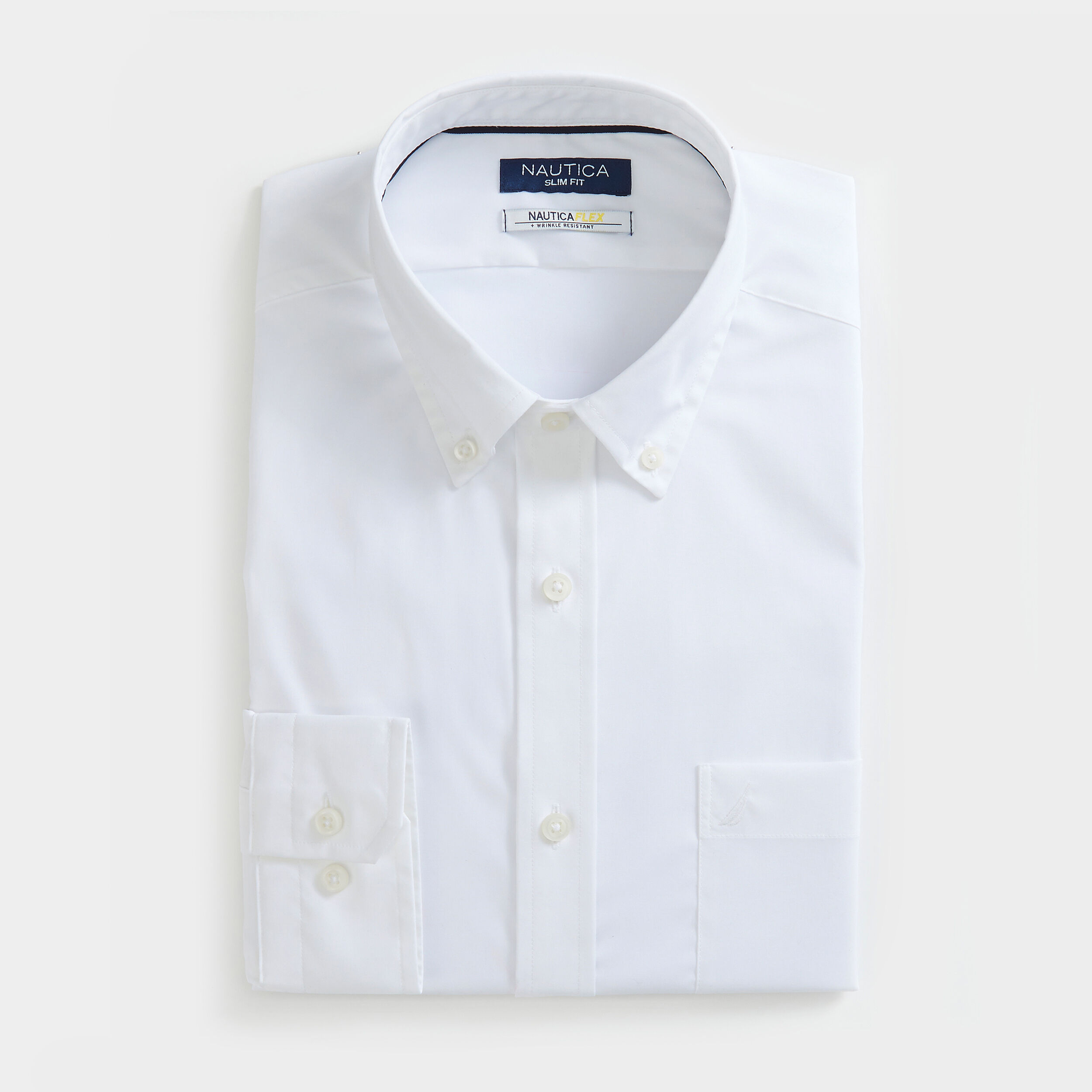 SLIM FIT WRINKLE RESISTANT SHIRT IN SOLID