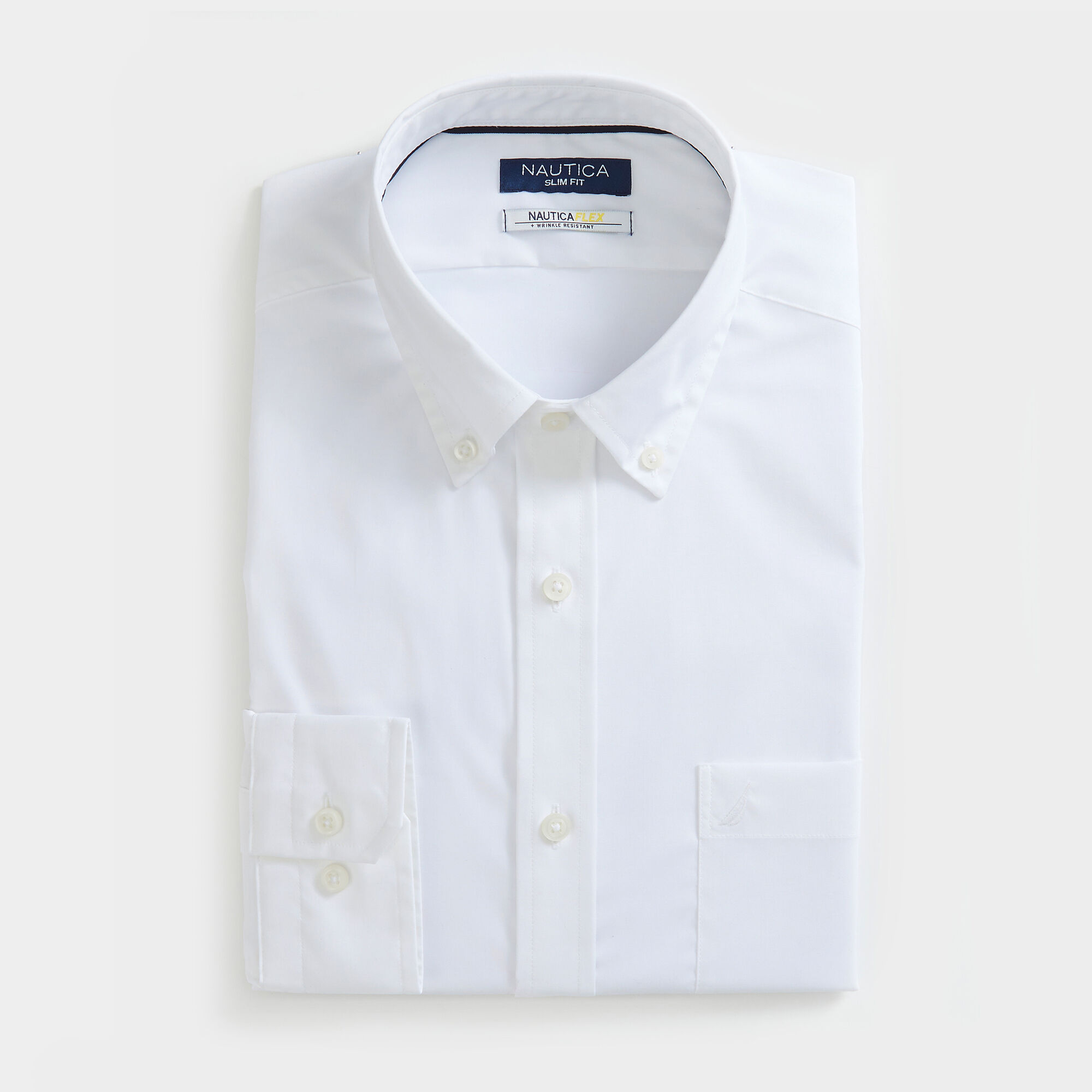 Nautica Mens Classic Fit Wrinkle Resistant Solid Shirt