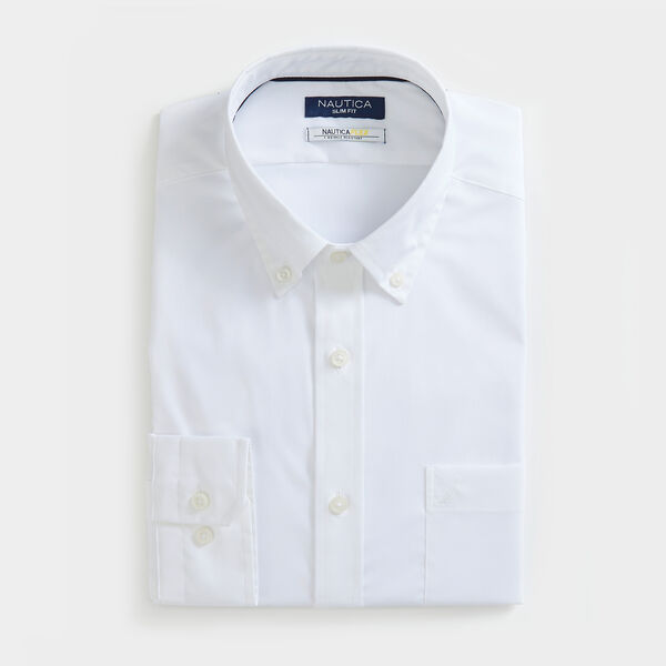 SLIM FIT WRINKLE RESISTANT SHIRT IN SOLID - Bright White