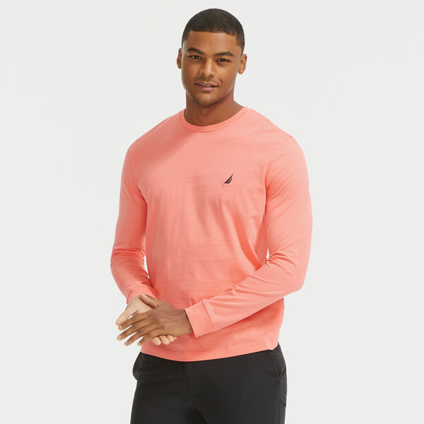 CREWNECK LONG SLEEVE T-SHIRT - Sugar Coral