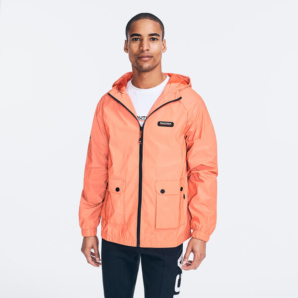 COMPETITION REFLECTIVE HOODED JACKET - Nautica Red