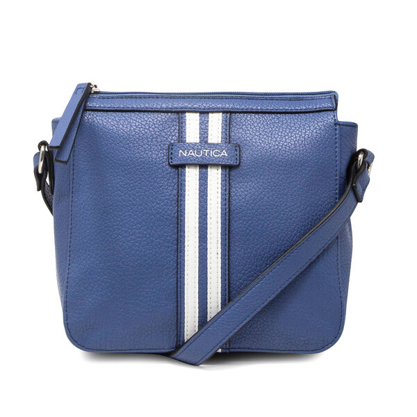 DOUBLE STRIPE CROSSBODY BAG - Ice Blue
