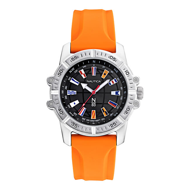GARDA CUP FLAG-EMBELLISHED WATCH,Multi,large