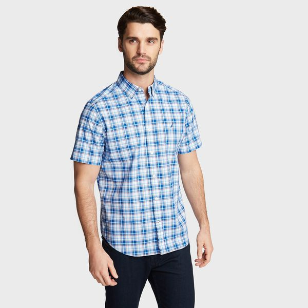 NAVTECH PLAID SHIRT - Clear Sky Blue