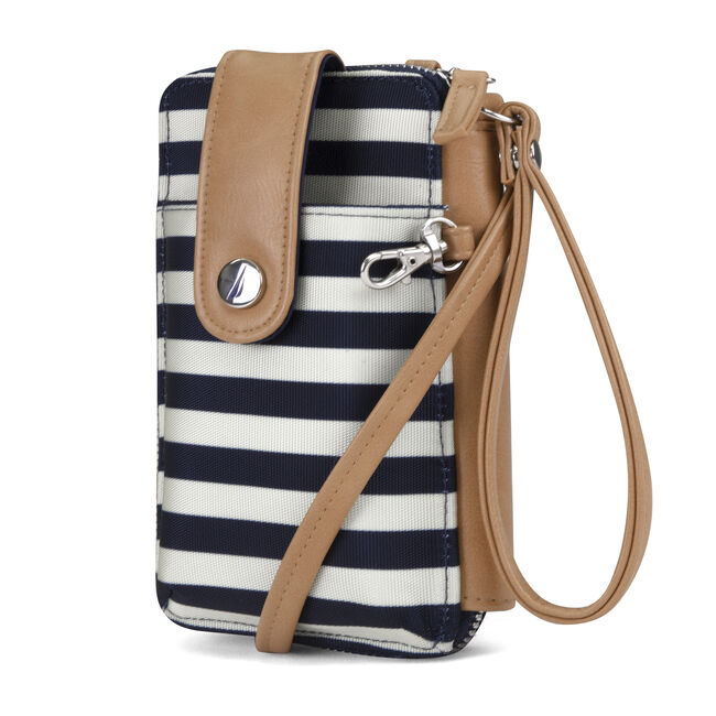Shore Thing North South Wallet-On-A-String Convertible Wristlet,Navy,large