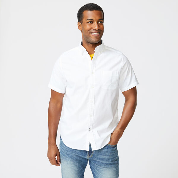 SHORT SLEEVE OXFORD SHIRT - Bright White