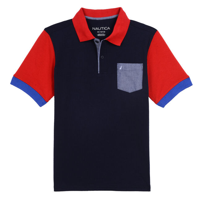 Little Boys' Harry Pocket Back Graphic Heritage Polo (4-7),Sport Navy,large