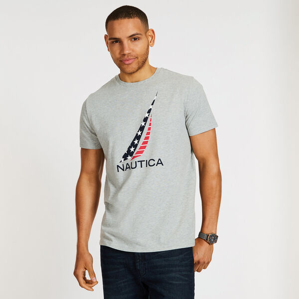 J-Class Americana Crewneck T-Shirt - Grey Heather