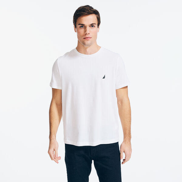 SOLID CREW NECK T-SHIRT - Bright White