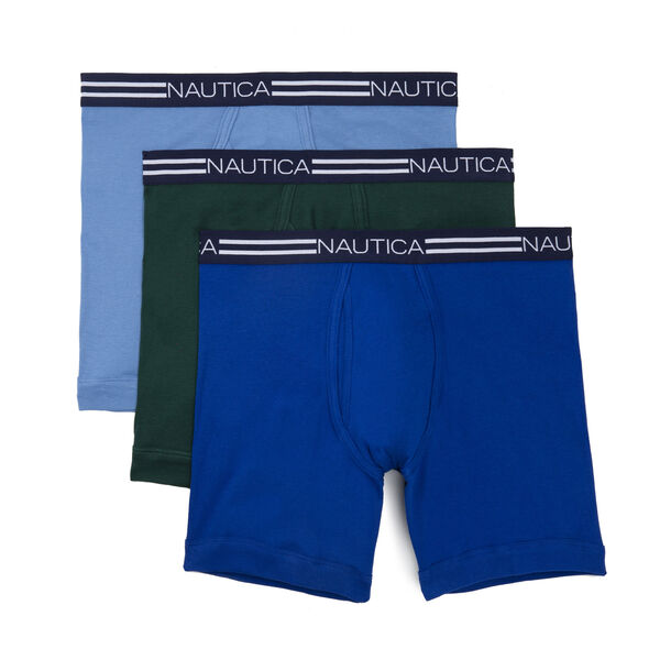 Classic Boxer Briefs, 3-Pack - Noon Blue