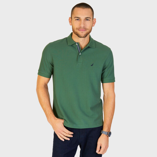 Short Sleeve Performance Deck Polo Shirt  - Green Glow