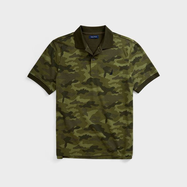 CLASSIC FIT CAMOUFLAGE POLO - Olive