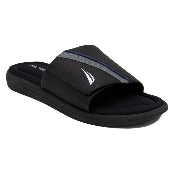Montrell Slide Sandal in Black - True Black