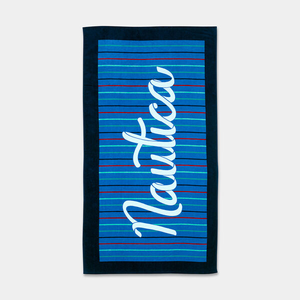 KIDS' LOGO SCRIPT PRINT BEACH TOWEL - Angel Blue