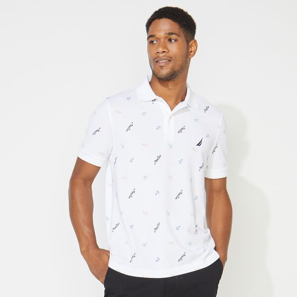 BIG & TALL ICON PRINT POLO - Bright White