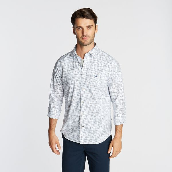 CLASSIC FIT WRINKLE RESISTANT SHIRT IN MINI FLORAL - Bright White