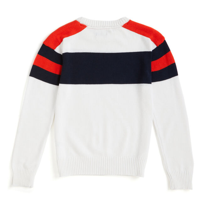 Toddler Boys' Cruise Crewneck Sweater (2T-4T),White,large