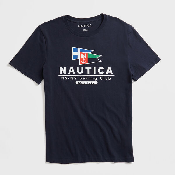 FLAG SAILING CLUB GRAPHIC T-SHIRT - Navy