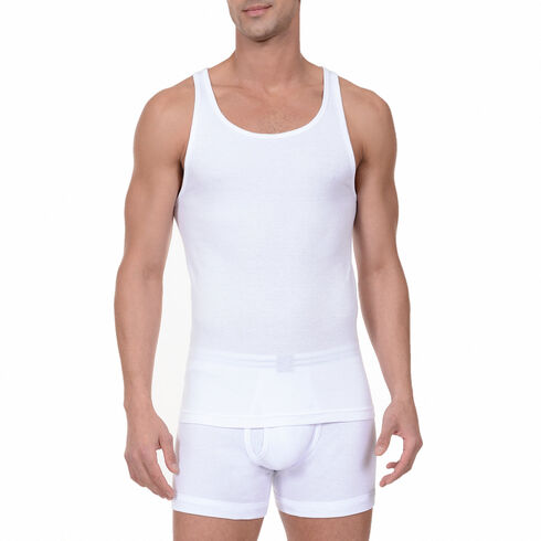Ribbed Tanks, 3-Pack - Bright White