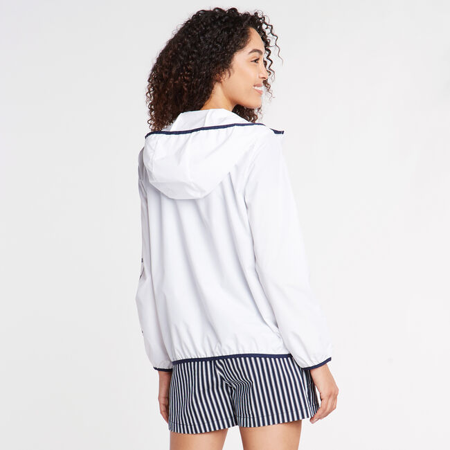 Packable Hooded Windbreaker,Bright White,large