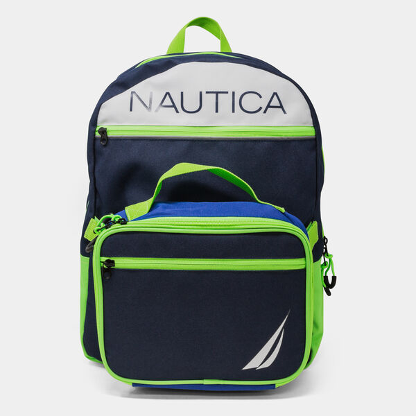 J-CLASS LOGO GRAPHIC BACKPACK WITH LUNCH BAG - Snow Heather