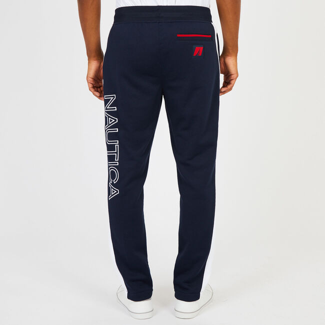 Big & Tall Retro Colorblock Joggers,Navy,large