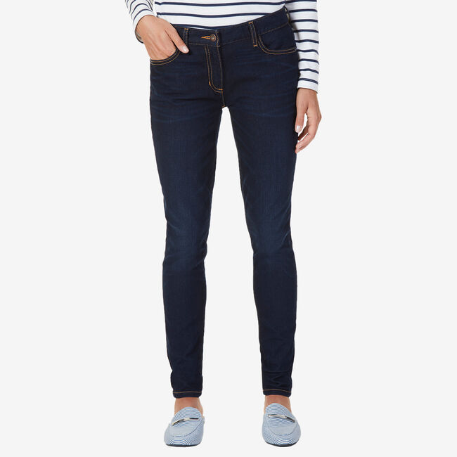 Stretch Skinny Fit Flat Front Jeans,Crystal Bay Blue,large