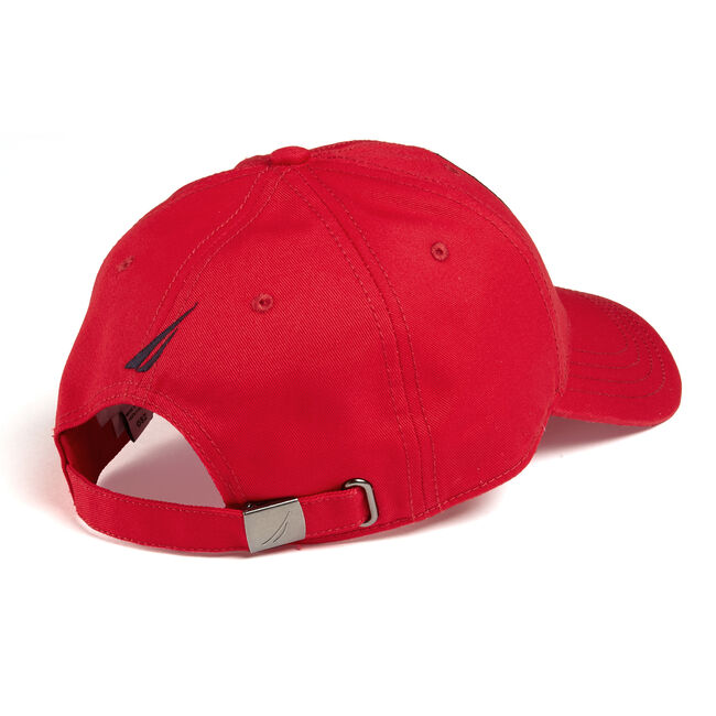 BASEBALL CAP IN USA PATCH,Nautica Red,large