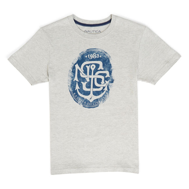 Toddler Boys' Mayoral Sailing Club Graphic Tee (2T-4T),Grey Heather,large